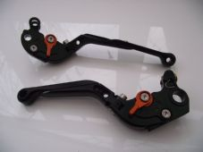 KTM 640,CNC levers set fold extend black orange adjuster DB12/C31